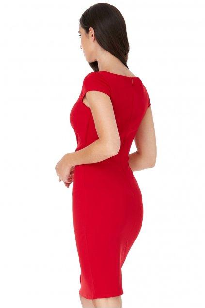 Červené krátke priliehavé šaty