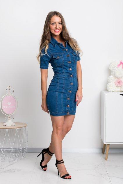 Denimové mini šaty