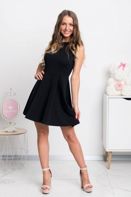 Čierne áčkové mini šaty