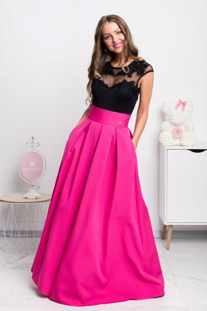 Cyklaménová dlhá sukňa