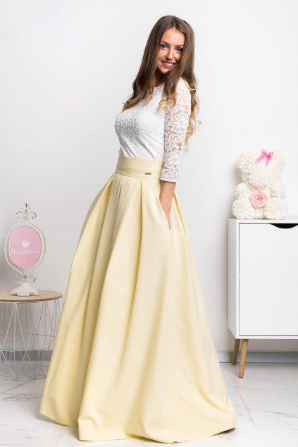 Žltá dlhá sukňa