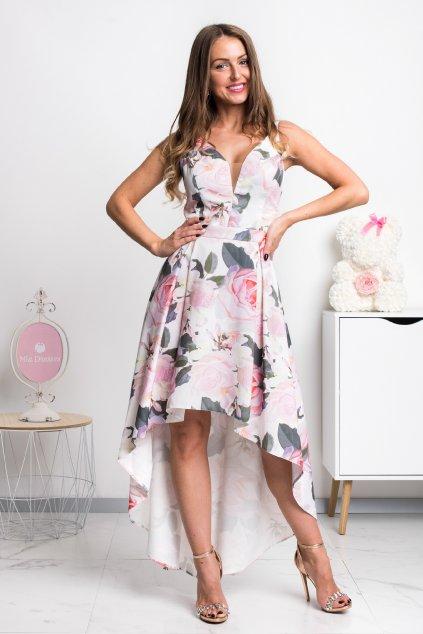 Kvetinové asymetrické šaty ROSE