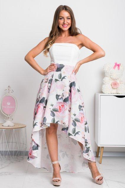Kvetinová asymetrická sukňa ROSE
