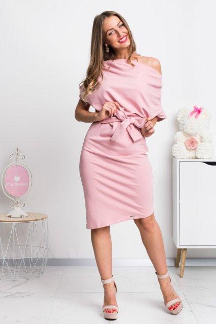 Ružové krátke šaty