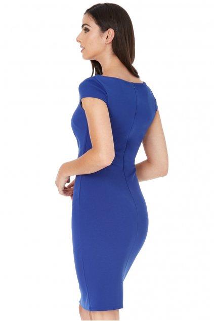 Modré krátke priliehavé šaty
