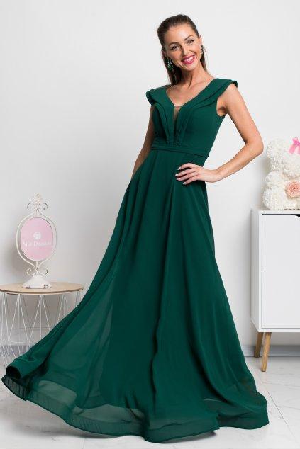 Smaragdové spoločenské šaty