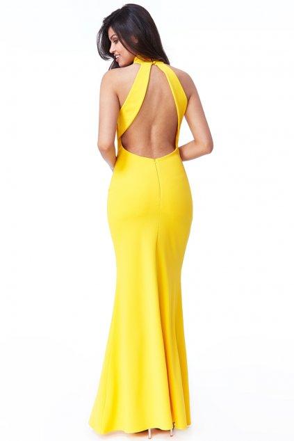 Žlté priliehavé spoločenské šaty