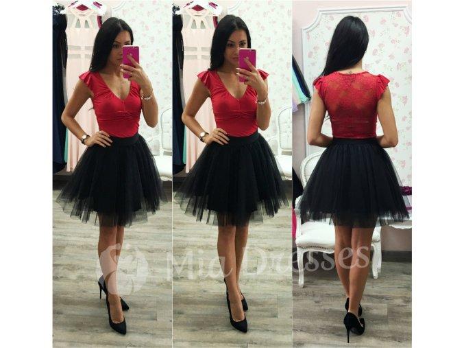 Čierna krátka tylová tutu sukňa