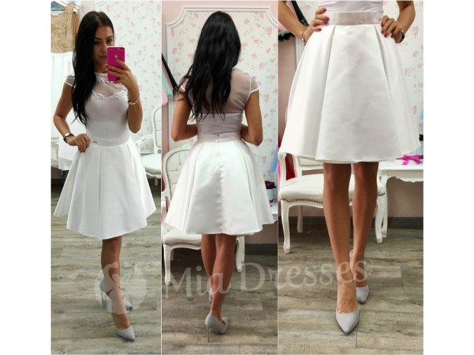 Biela krátka sukňa