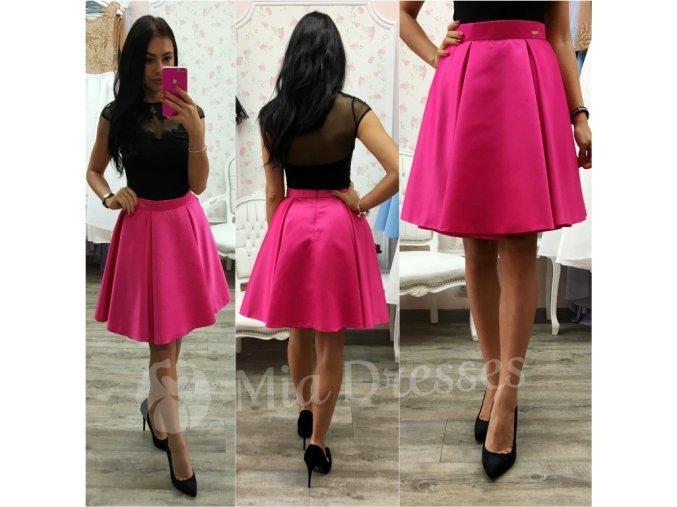 Cyklaménová krátka sukňa