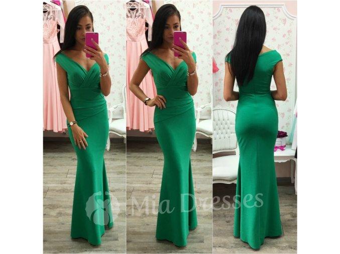 Zelené spoločenské priliehavé šaty