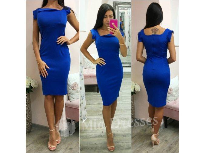 Modré midi šaty