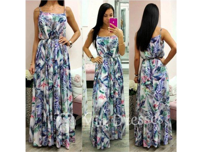 Kvetinové dlhé šaty