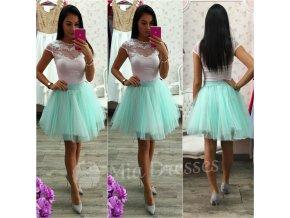 Mentolová krátka tylová tutu sukňa