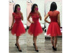 Červená krátka tylová tutu sukňa