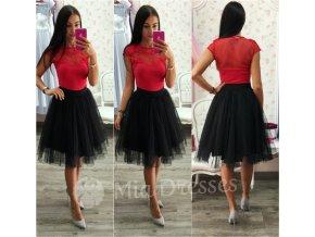 Čierna midi tylová tutu sukňa