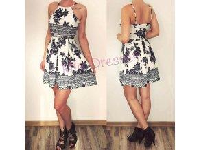 Kvetované šaty Black & White