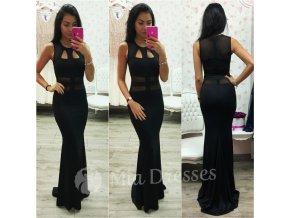 Čierne dlhé šaty s výrezmi
