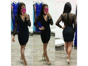 Čierne šaty s chokerom