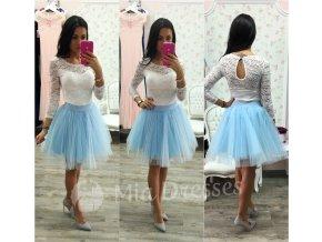 Svetlomodrá krátka tylová tutu sukňa