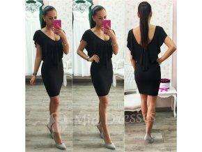 Čierne šaty s volánom