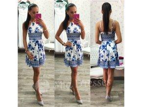 Kvetinové šaty- BLUE