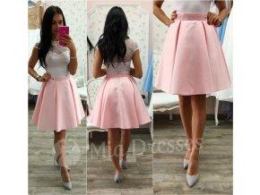 Svetloružová krátka sukňa