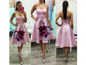 Ružové áčkové šaty Flower