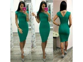 Zelené krátke priliehavé šaty