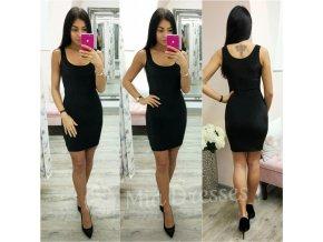 Čierne trblietavé mini šaty