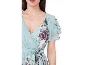 Dlhé šifónové šaty s kvetinami