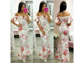 Farebné spoločenské kvetinové šaty