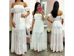 Biele dlhé letné šaty