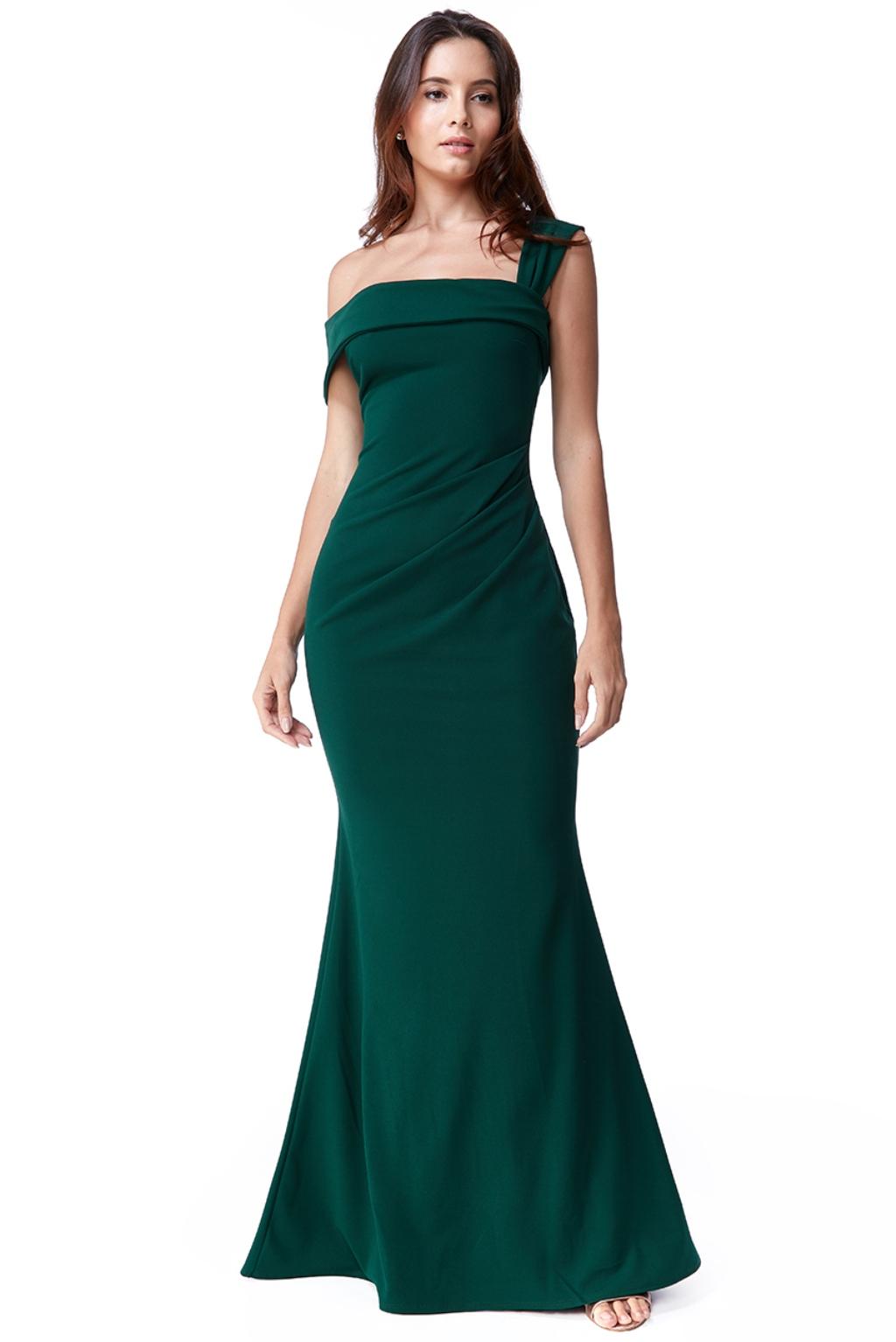 Zelené priliehavé spoločenské šaty Veľkosť: S