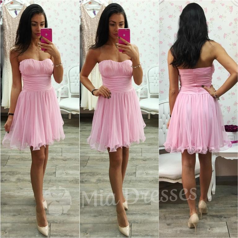 Ružové spoločenské šaty Veľkosť: M