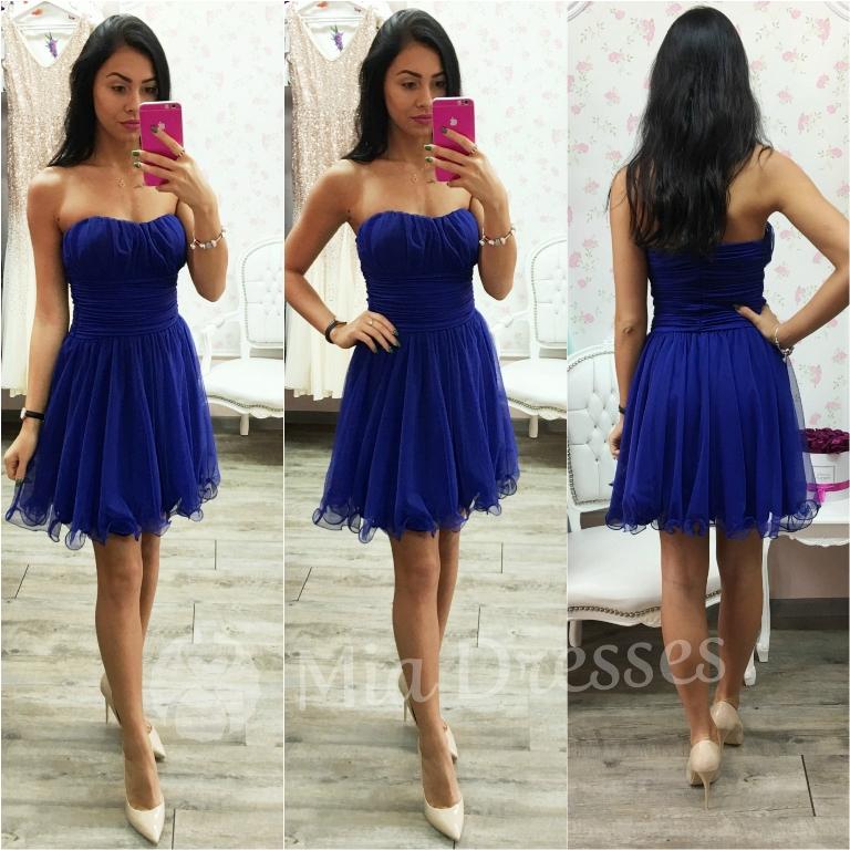 Modré spoločenské šaty Veľkosť: S