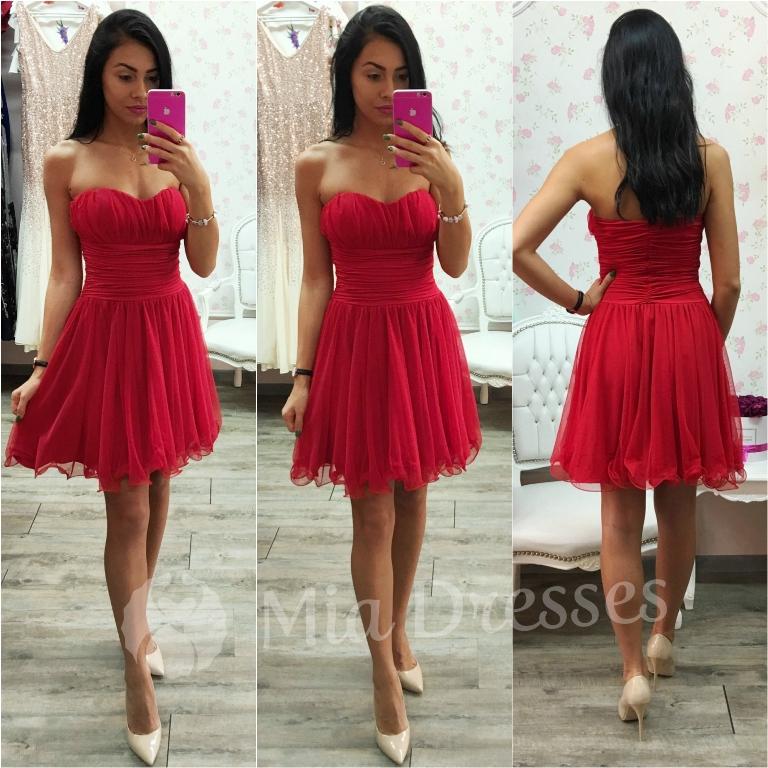 Červené spoločenské šaty Veľkosť: M