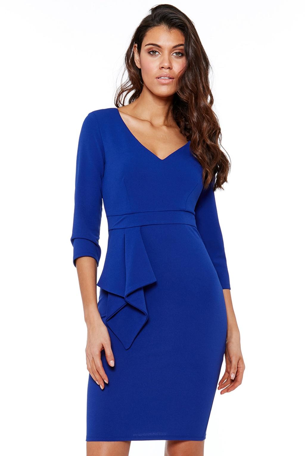 Modré krátke šaty Veľkosť: XL