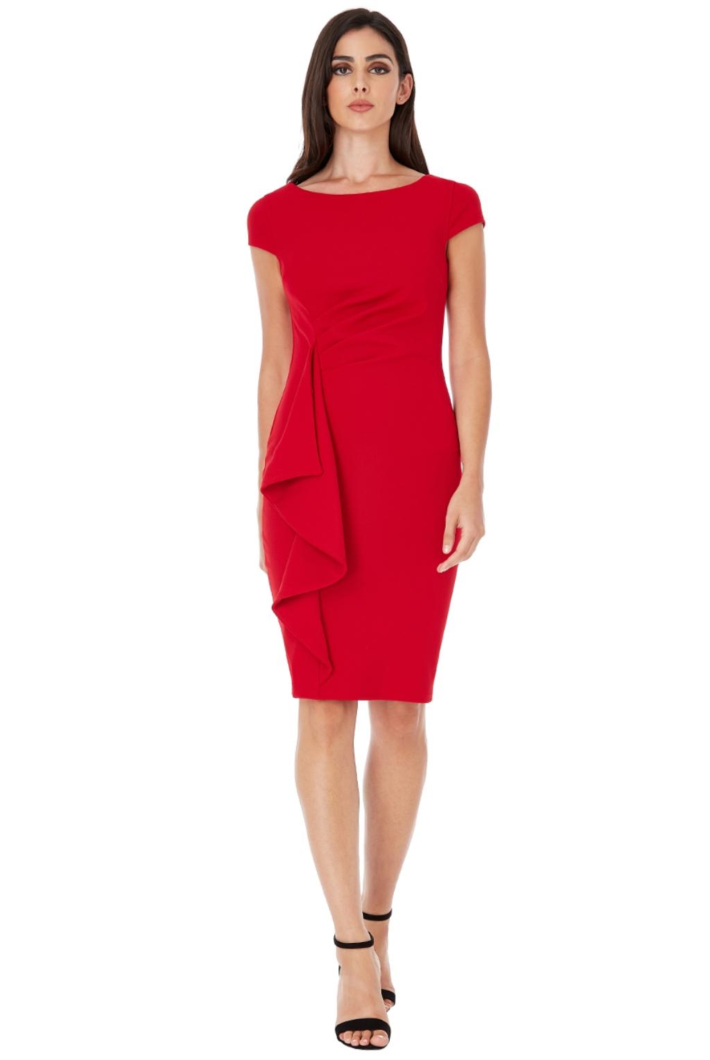 Červené krátke priliehavé šaty Veľkosť: S