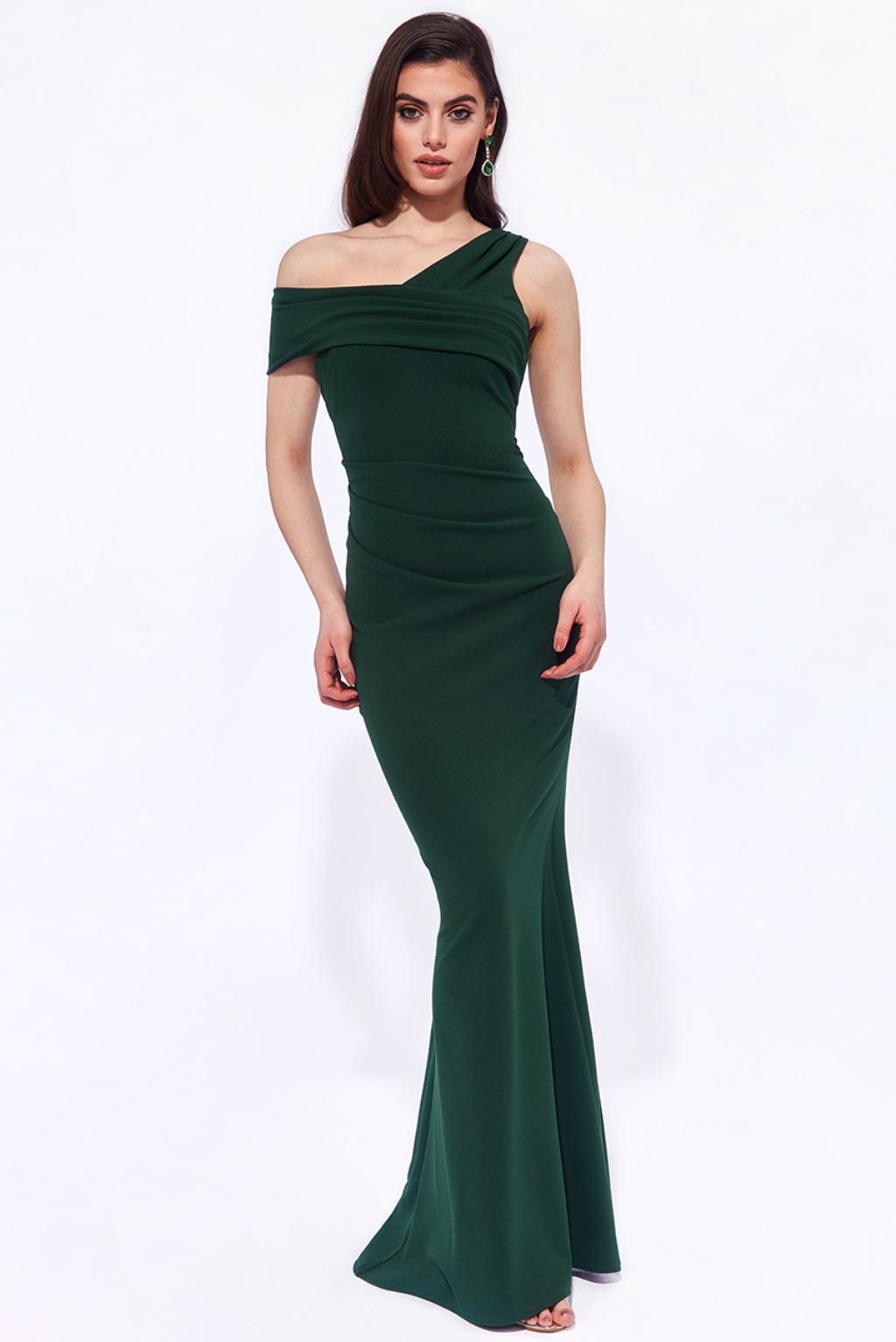 Zelené priliehavé spoločenské šaty Veľkosť: M