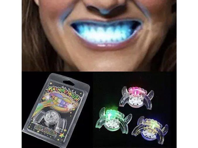 svítící zuby