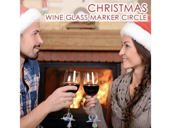 Vánoční označovátka na skleničky
