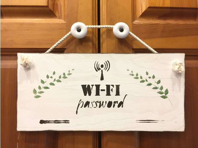 "Cedulka ""WI-FI password"""