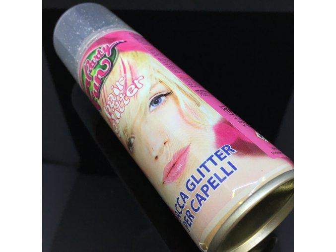 Glitrový sprej na vlasy