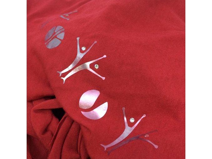 šátek s MIA potiskem, červený