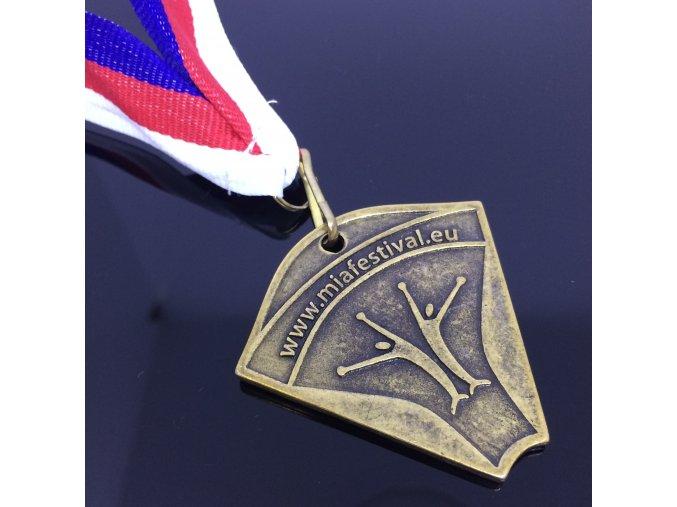 """Medaile  bronz a stříbro """"MIA LEAGUE"""""""