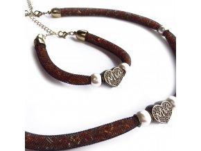 Kolekce náramku a náhrdelníku MIA SRDCE  do společnosti