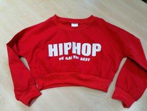 Mikina červená HIP-HOP