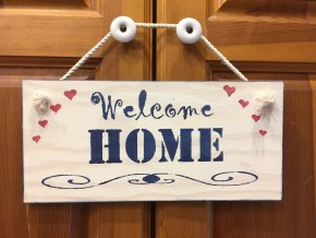 "Cedulka ""Welcome Home"""