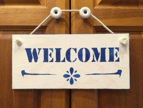 """Cedulka """"WELCOME"""""""